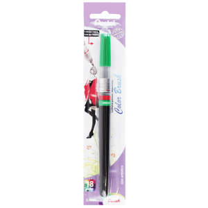 Caneta Pincel Aquarela Color Brush Pentel Green 104