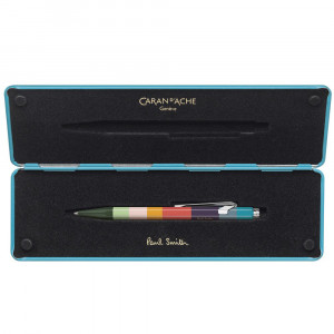 Caneta Esferográfica Caran d'Ache 849 Paul Smith Peacock Blue