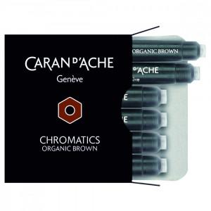 Cartucho Para Caneta Tinteiro Chromatics Caran d'Ache Organic Brown 6 Unidades