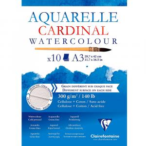Bloco de Papel Para Aquarela Cardinal A3 300g Clairefontaine
