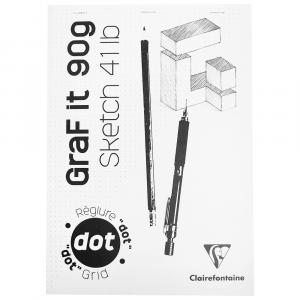 Bloco de Papel Para Desenho Graf It DOT A4 80 Folhas Clairefontaine