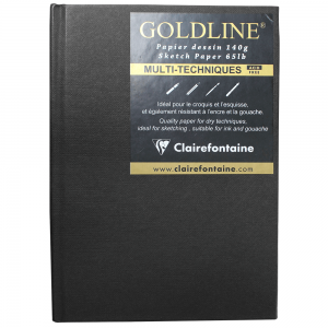 Bloco Sketchbook Goldline A6 Clairefontaine Retrato