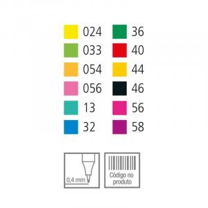 Caneta Stabilo Point 88 Mini 12 Cores 688/12-06