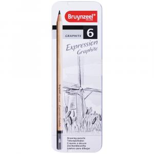 Lápis Para Desenho Bruynzeel Expression 06 Graduações