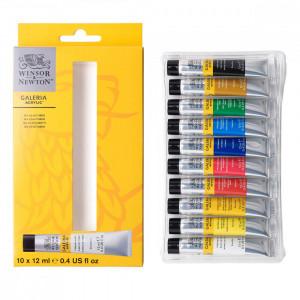 Estojo Tinta Acrílica Galeria Winsor & Newton 12ml 10 Cores