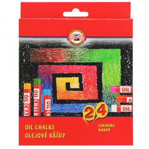 Pastel Oleoso Koh-I-Noor 24 cores
