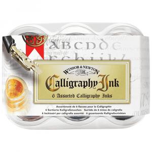 Estojo Tinta de Caligrafia Winsor & Newton 06 Cores