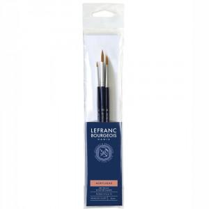 Kit de Pincéis Lefranc & Bourgeois 3 unidades 300238