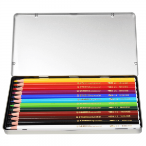 Lápis Aquarelável Aquacolor Stabilo 12 Cores