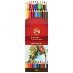 Lápis Aquarelável Arte Koh-I-Noor 24 Cores 3718
