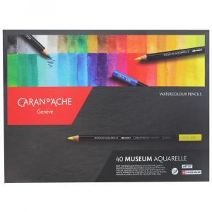 Lápis Aquarela Caran d'Ache Museum 40 Cores