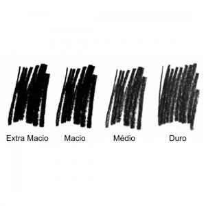 Lápis Carvão Charcoal Sinoart com 4 Unidades
