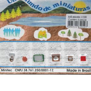 Miniatura de Banheiro 1/100 645 Minitec 06 Peças