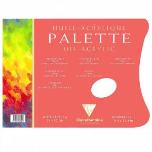 Paleta Para Tinta Óleo e Acrílica Descartável Clairefontaine