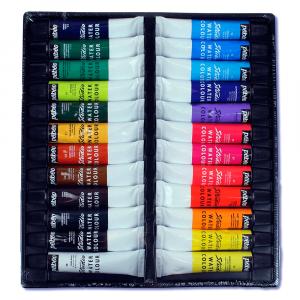 Estojo de Tinta Óleo Para Tela Pebeo 24 Cores 12ml