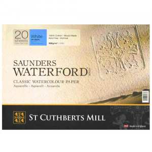 Bloco de Papel Para Aquarela Saunders Waterford TF 300g/m² 41x31cm