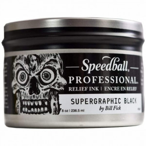 Tinta Para Xilogravura Speedball Profissional Relief Ink 236,5ml Supergraphic Black