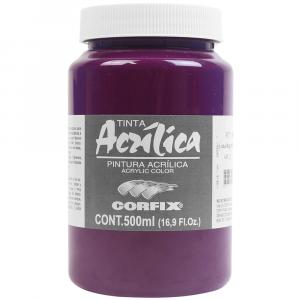 Tinta Acrílica Corfix 500ml G.2 105 Laca Magenta