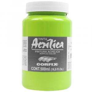 Tinta Acrílica Corfix 500ml  77 Verde Inglês Claro
