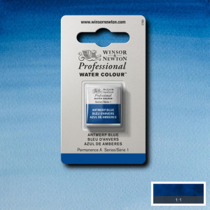 Tinta Aquarela Profissional Winsor & Newton Pastilha S1 010 Antwerp Blue