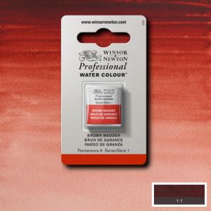 Tinta Aquarela Profissional Winsor & Newton Pastilha S1 056 Brown Madder