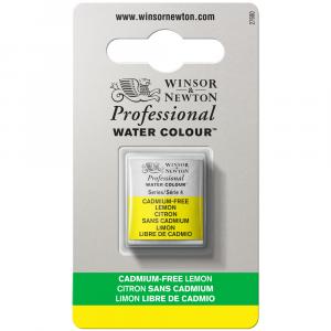 Tinta Aquarela Profissional Winsor & Newton Pastilha S4 898 Cadmium-Free Lemon