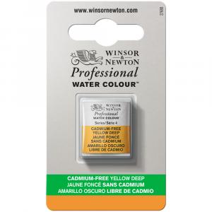 Tinta Aquarela Profissional Winsor & Newton Pastilha S4 891 Cadmium-Free Yellow Deep