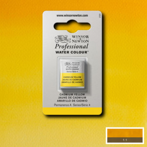 Tinta Aquarela Profissional Winsor & Newton Pastilha S4 108 Cadmium Yellow