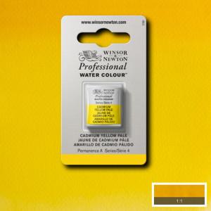 Tinta Aquarela Profissional Winsor & Newton Pastilha S4 118 Cadmium Yellow Pale