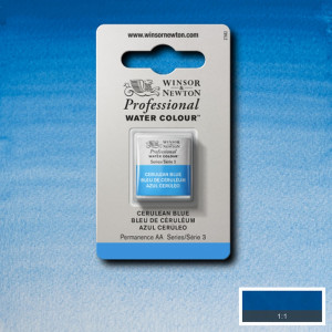 Tinta Aquarela Profissional Winsor & Newton Pastilha S3 137 Cerulean Blue