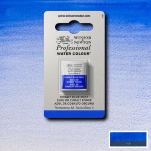 Tinta Aquarela Profissional Winsor & Newton Pastilha S4 180 Cobalt Blue Deep