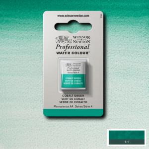 Tinta Aquarela Profissional Winsor & Newton Pastilha S4 184 Cobalt Green