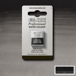 Tinta Aquarela Profissional Winsor & Newton Pastilha S1 337 Lamp Black