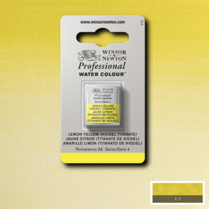 Tinta Aquarela Profissional Winsor & Newton Pastilha S4 347 Lemon Yellow
