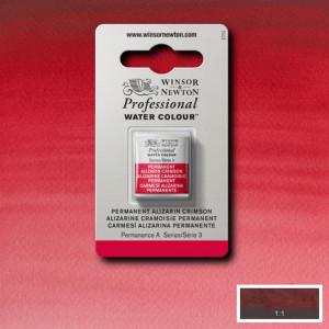 Tinta Aquarela Profissional Winsor & Newton Pastilha S3 466 Permanent Alizarin Crimson