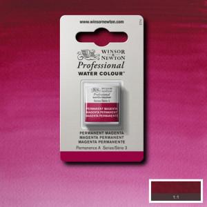 Tinta Aquarela Profissional Winsor & Newton Pastilha S3 489 Permanent Magenta