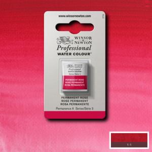 Tinta Aquarela Profissional Winsor & Newton Pastilha S3 502 Permanent Rose