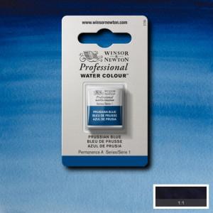 Tinta Aquarela Profissional Winsor & Newton Pastilha S1 538 Prussian Blue