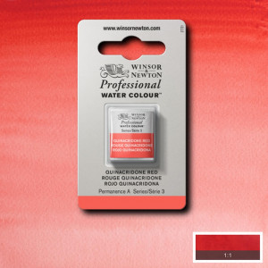 Tinta Aquarela Profissional Winsor & Newton Pastilha S3 548 Quinacridone Red
