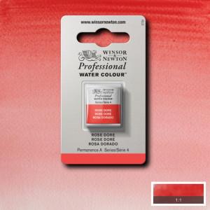 Tinta Aquarela Profissional Winsor & Newton Pastilha S4 576 Rose Dore