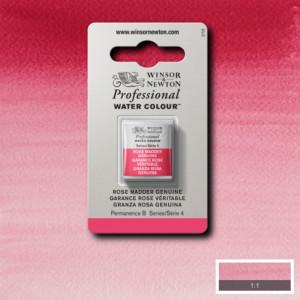 Tinta Aquarela Profissional Winsor & Newton Pastilha S4 587 Rose Madder