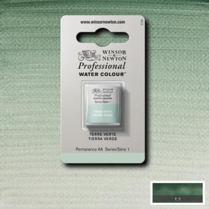 Tinta Aquarela Profissional Winsor & Newton Pastilha S1 637 Terre Verte