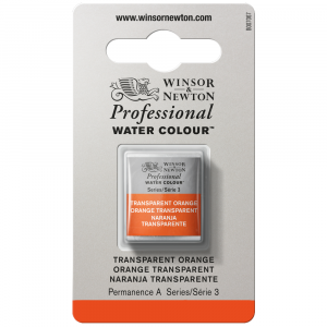 Tinta Aquarela Profissional Winsor & Newton Pastilha S3 650 Transparent Orange