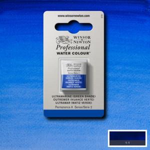 Tinta Aquarela Profissional Winsor & Newton Pastilha S2 667 Ultramarine (Green Shade)