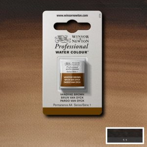 Tinta Aquarela Profissional Winsor & Newton Pastilha S1 676 Vandyke Brown