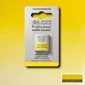 Tinta Aquarela Profissional Winsor & Newton Pastilha S1 730 Winsor Yellow