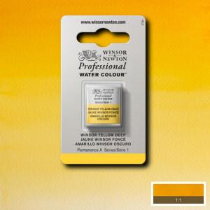 Tinta Aquarela Profissional Winsor & Newton Pastilha S1 731 Winsor Yellow Deep