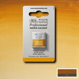 Tinta Aquarela Profissional Winsor & Newton Pastilha S1 744 Yellow Ochre