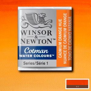 Aquarela Cotman W&N Pastilha 090 Cadmium Orange Hue