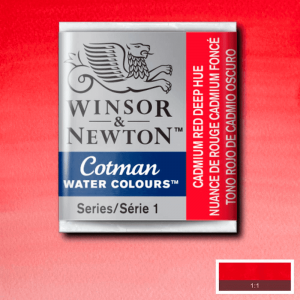 Aquarela Cotman W&N Pastilha 098 Cadmium Red Deep Hue